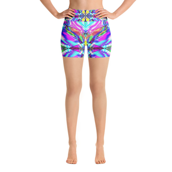Shop Custom Hand Made Deep Trans Yoga Shorts